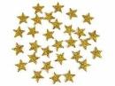 Glitrovaná hviezdička penová 2 cm - zlatá
