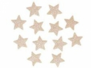 Glitrovaná hviezdička penová 2 cm - platinovo zlatá
