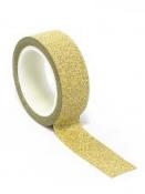 Glitrovaná lepiaca páska 2cm - zlatá