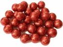 Glitrované guličky penové 1 cm - 5 g - červené