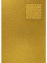 Glitrovaný papier - kartón 200g -  tmavý zlatý