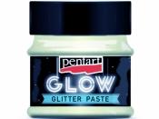 Glitrová pasta GLOW 50ml - modrá dúha