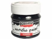 Metalická akrylová farba 50 ml - grafitová