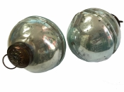 Sklenená vintage vianočná guľa 6 cm - tyrkysová