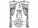 Gumená pečiatka 14x18 cm - Home sweet home