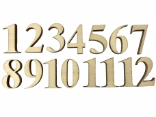 Drevené hodinové čísla - arabské 1-12