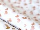 Hodvábny papier 50x70cm - medené srdiečka