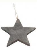 Drevená hviezda 15cm - čierna