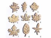 Drevený výrez jesenný list 4,5 cm