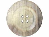 Jumbo drevený gombík 24 cm - prírodný