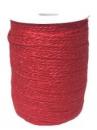 Jutová šnúra plochá 12mm - červená