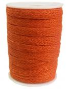 Jutová šnúra plochá 12mm - oranžová