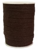 Jutová šnúra plochá 12mm - tmavá hnedá