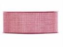 Jutová stuha 4 cm - ružová