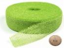 Jutová stuha 5 cm - jablková zelená