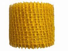 Jutová stuha 4 cm - slnečnicová