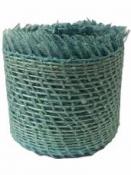 Jutová stuha 4 cm - svetlá modrá