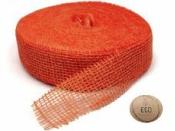 Jutová stuha 5 cm - oranžová