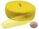 Jutová stuha 5 cm - žltá