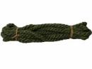 Jutový špagát - lano - 1,5 cm - olivovo zelené