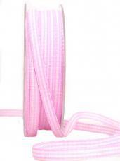 Károvaná stuha 6 mm -  ružová