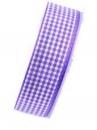 Károvaná stuha 25 mm - fialová