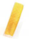 Károvaná stuha 25 mm - žltá