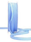 Károvaná stuha 5 mm - modrá