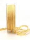 Károvaná stuha 5 mm - slnečnicová žltá