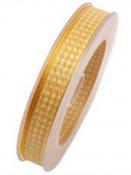 Károvaná stuha 15 mm - žltá