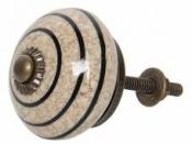 Keramická úchytka 4,2 cm - béžová