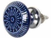Keramická úchytka 4 cm - modrá