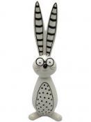Jarná dekorácia keramický zajac s okuliarmi 30 cm
