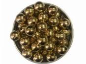 Plastové korálky 10 mm 15 ks - metalické zlaté