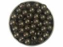 Plastové korálky perličky 8mm 10g - vintage sivé