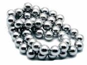 Plastové korálky 10 mm 15 ks - metalické strieborné