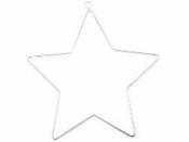 Kovová hviezda 13 cm - strieborná