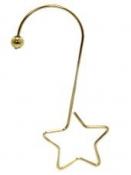 Kovový háčik hviezdička - zlatá