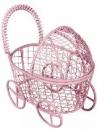 Kovový kočiarik - 8cm - ružový