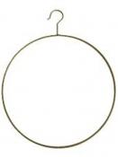 Kovový kruh 38 x 48cm - vešiak - antický zlatý