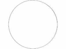 Kovový kruh na lapač snov 22cm