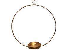 Kovový kruh - svietnik 25 cm - zlatý