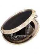 Kovový prívesok - medailón 5x4 cm - oválny
