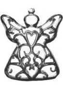Kovový prívesok anjel 5cm - strieborný