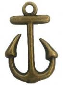 Kovový prívesok 2 cm kotva - medená