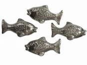 Prívesok s kovovým efektom 3,5cm - ryba