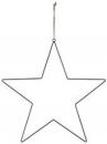 Kovový základ hviezda 50cm - strieborný