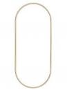 Kovový základ na lapač snov ovál 25x35cm - zlatý