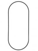 Kovový základ na lapač snov ovál 25x35cm - čierny