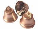 Kovový zvonček 2cm matný - ružovozlatý